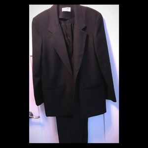 Alfred Dunner QVC Womens Suit 14 Black w/Pants
